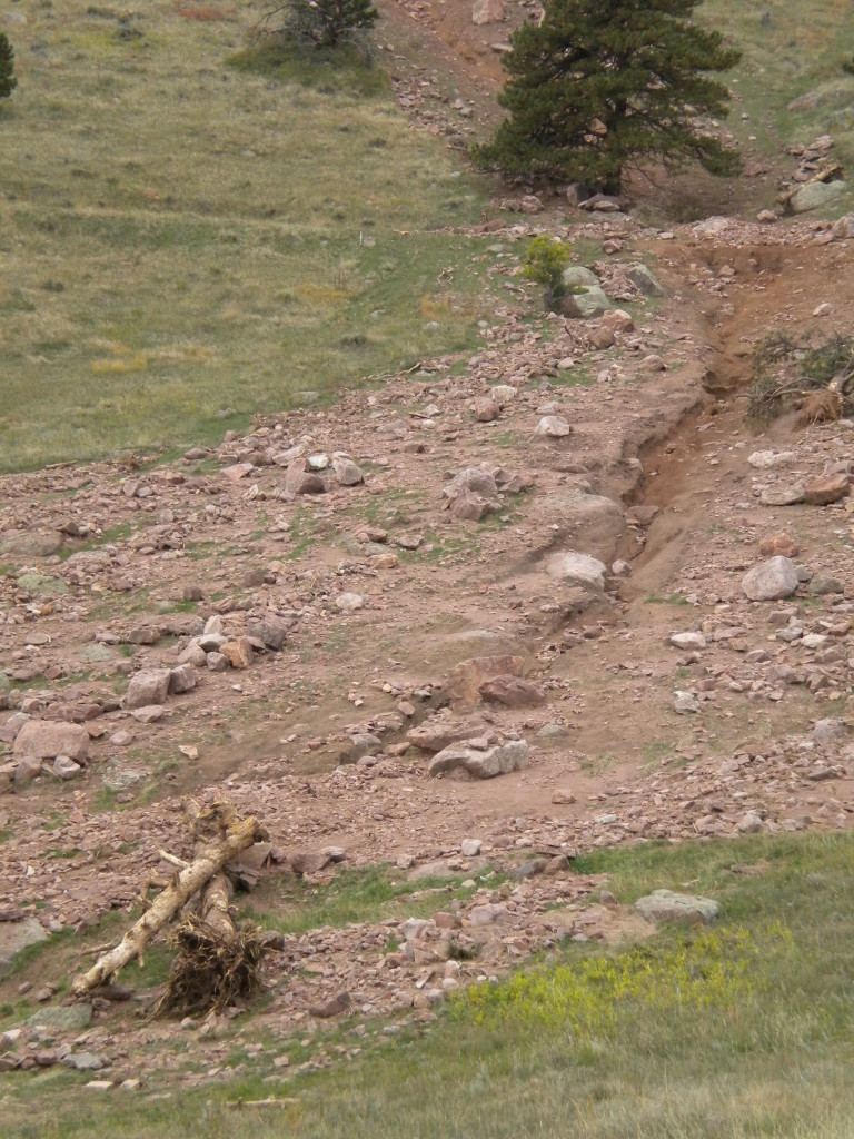 Sanitas Valley trail closed because of flood wash-out