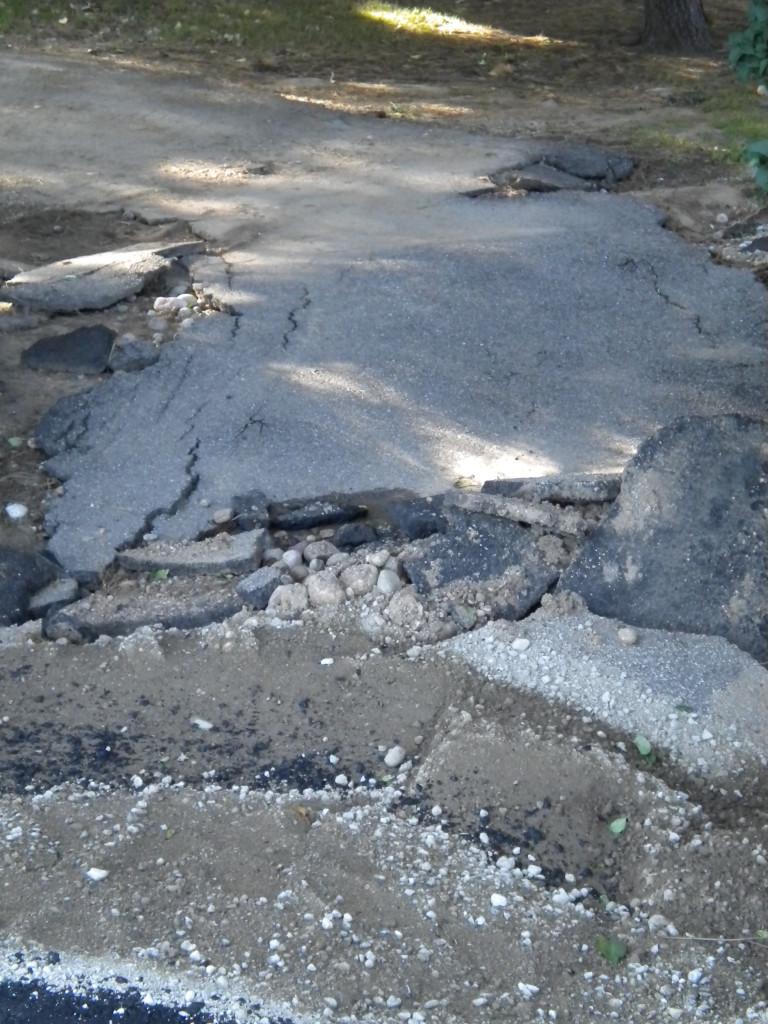 pavement damage