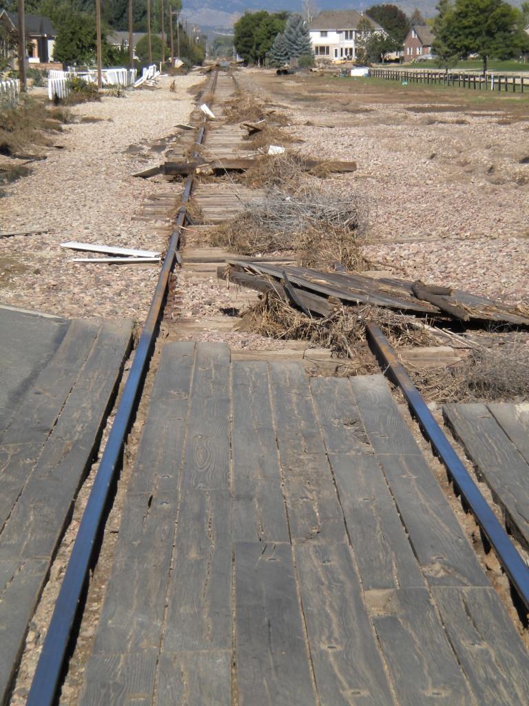 debris on the tracks