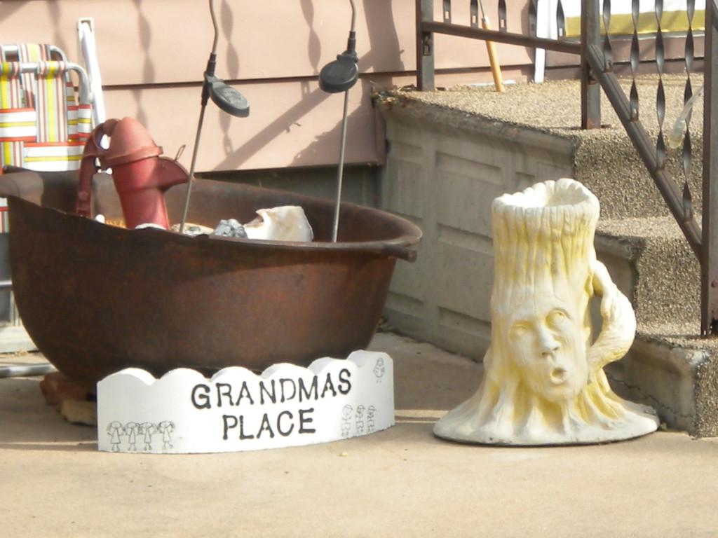 pensive stump-face at Grandma's Place