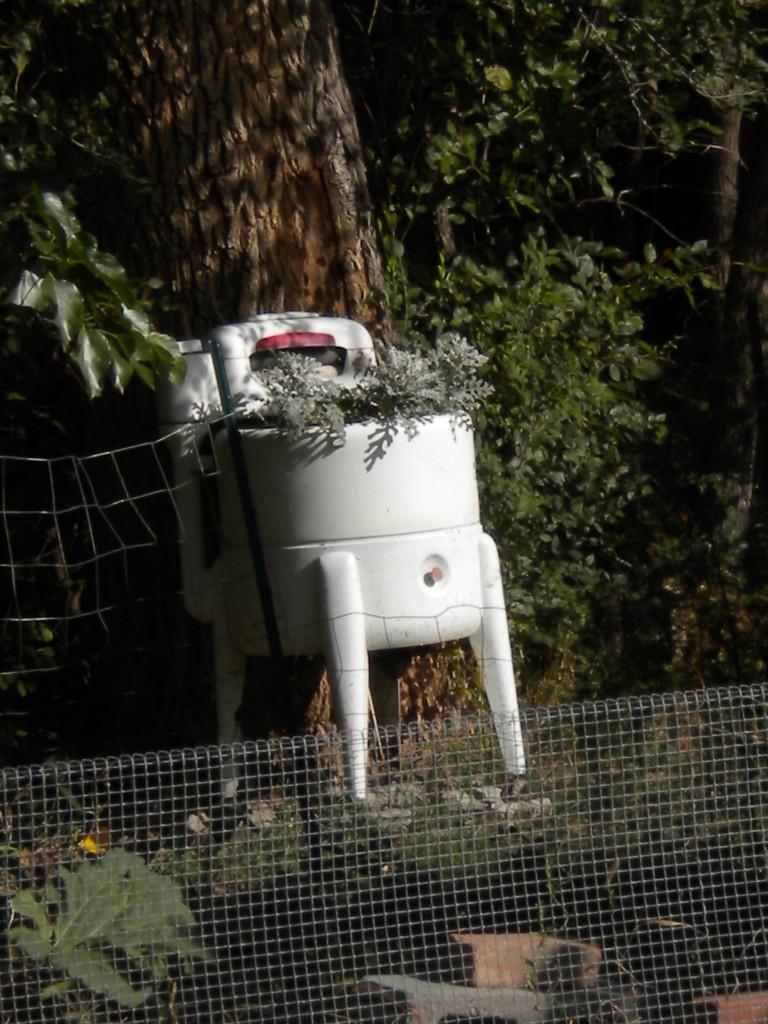 washing machine planter
