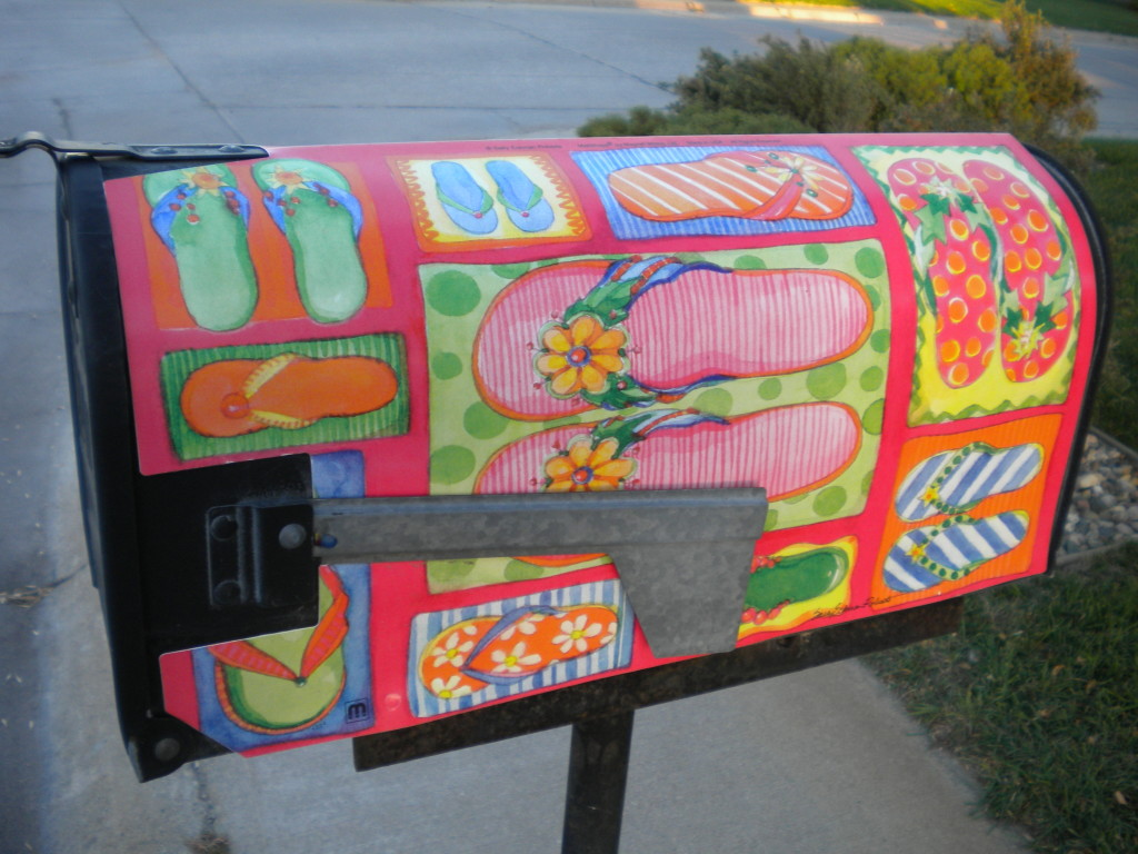 colorful footwear mailbox