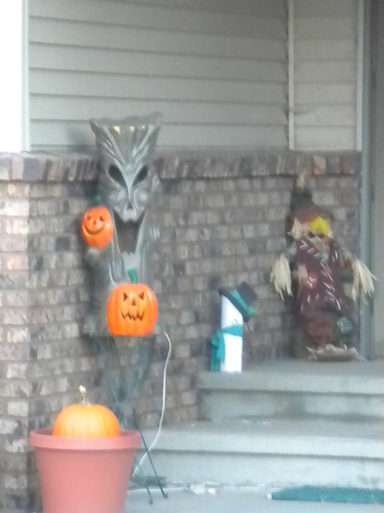 Halloween porch