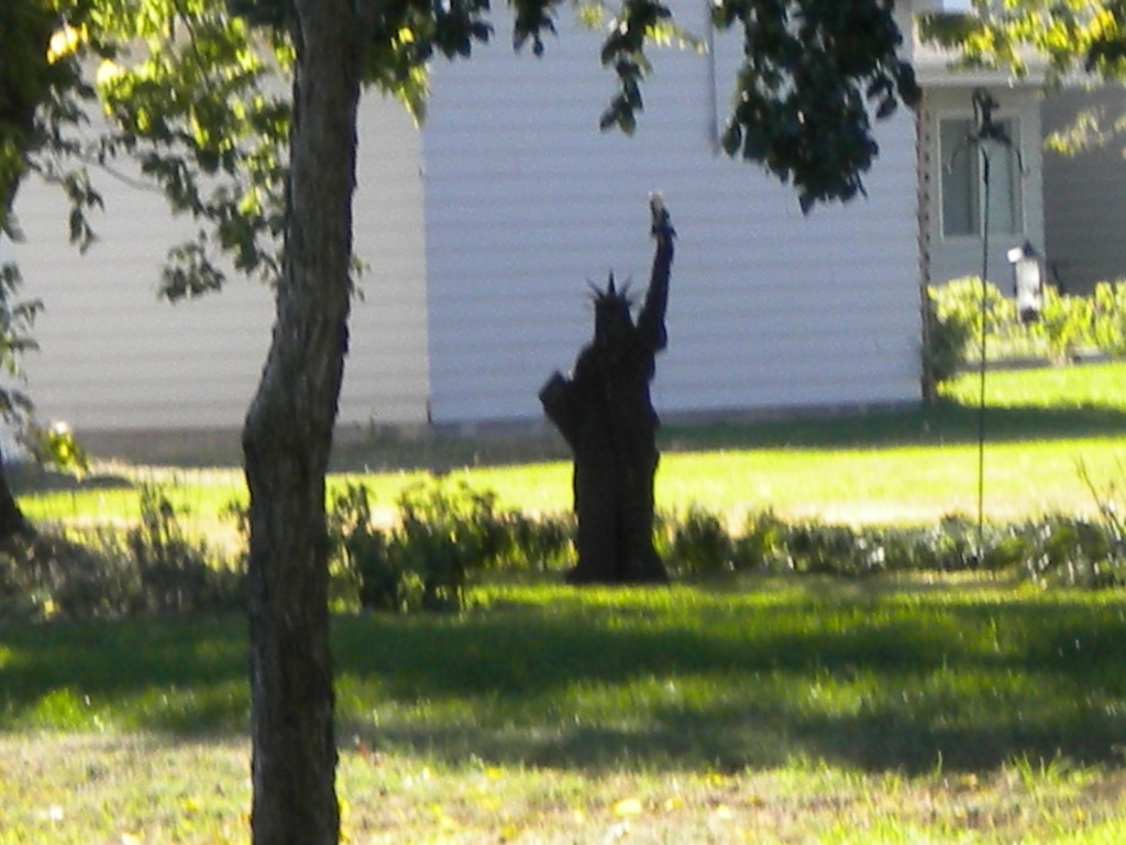 back yard Statue of Liberty