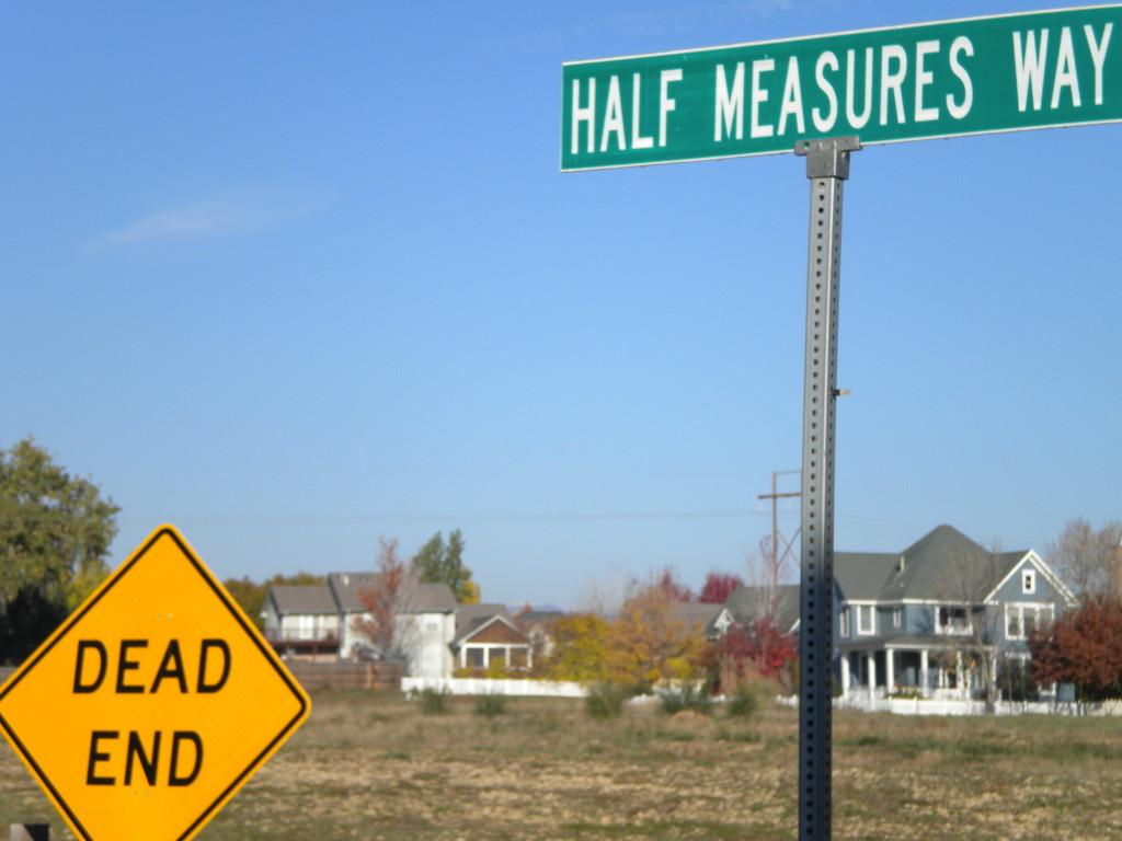 Dead End at Half Measures