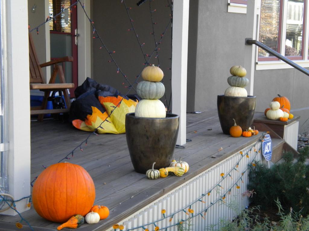 pumpkin cairns