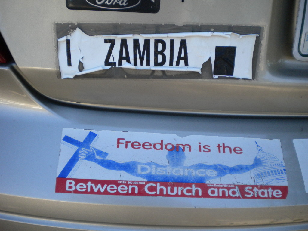 rare Zambia bumper sticker (Northern Rhodesia 1911-1964)