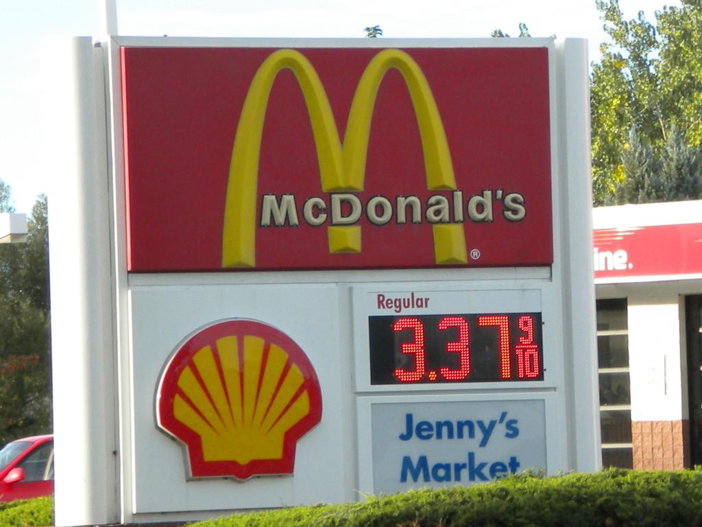 McDonald's + gas prices