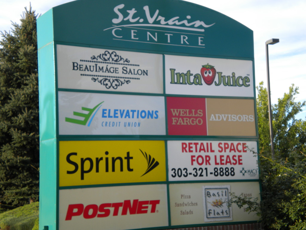 a few of the many St. Vrain Centre businesses