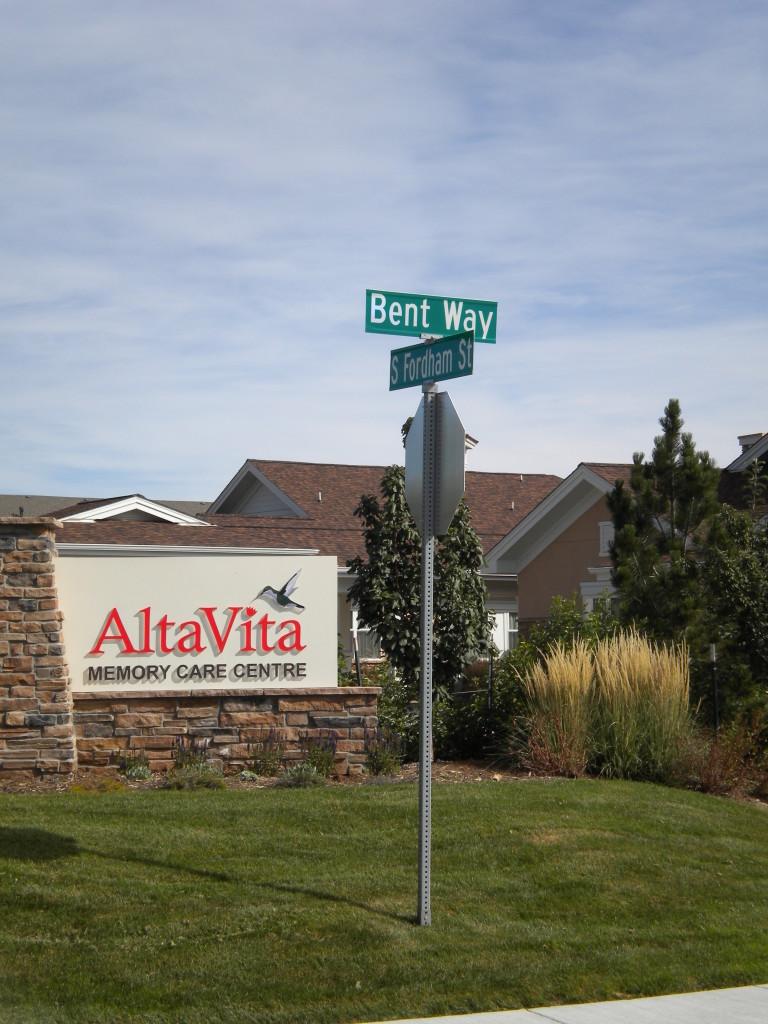 Alta Vista assisted living (with hummingbird)