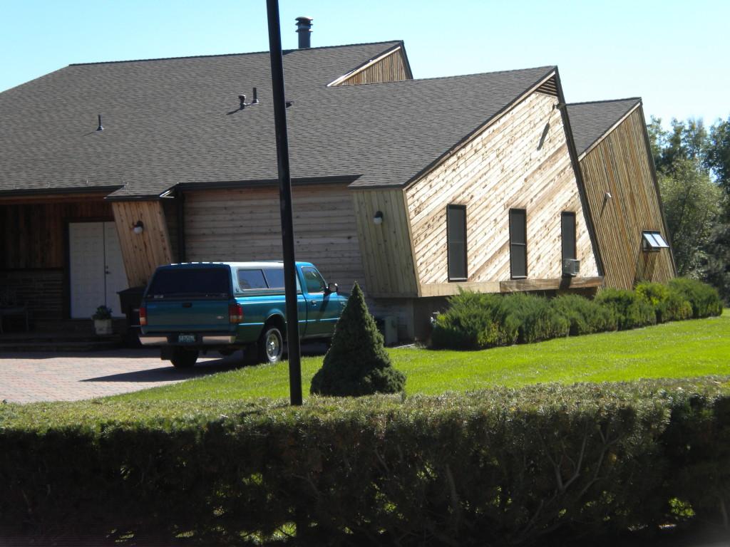 slanty house