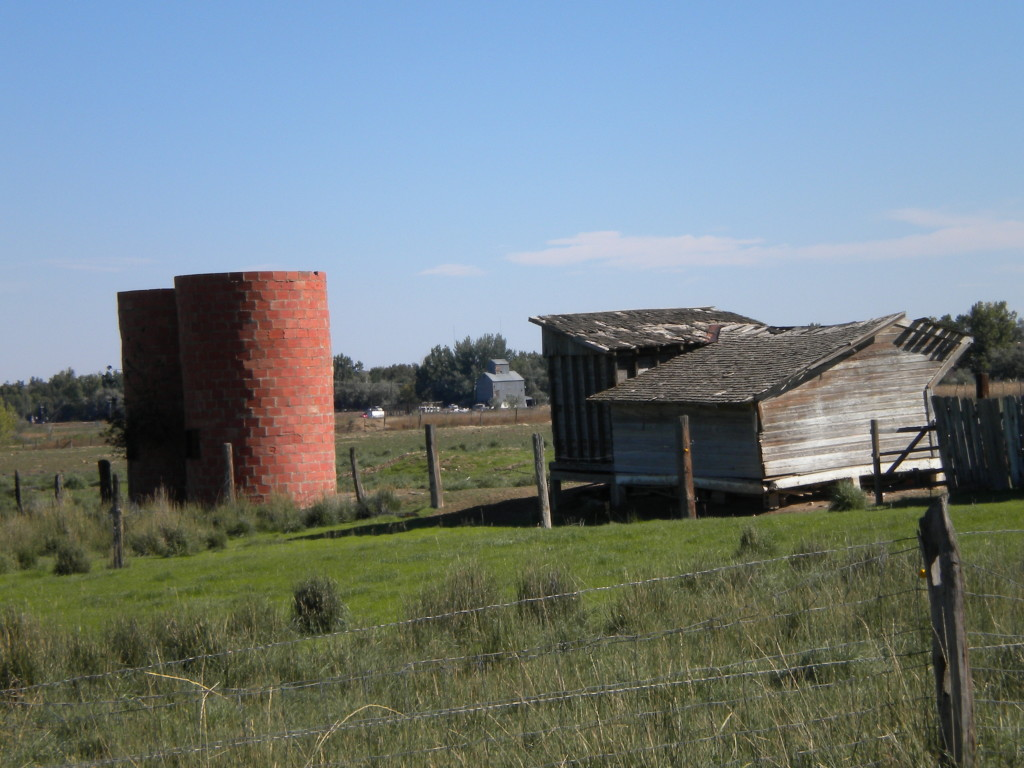 farm buildings east of Hover (north 95th)