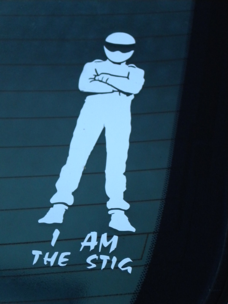 "I had to look up what ""I AM THE STIG"" references"