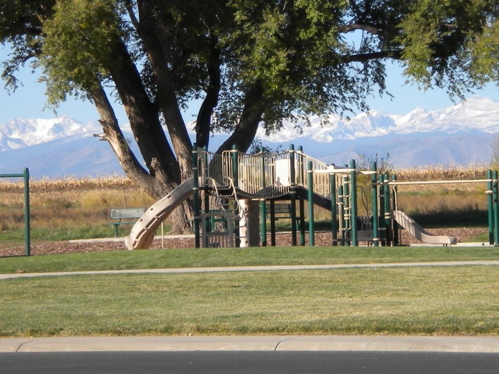 neighborhood playground with scenic view