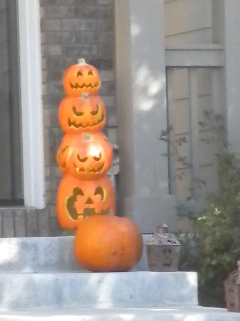 pumpkin cairn