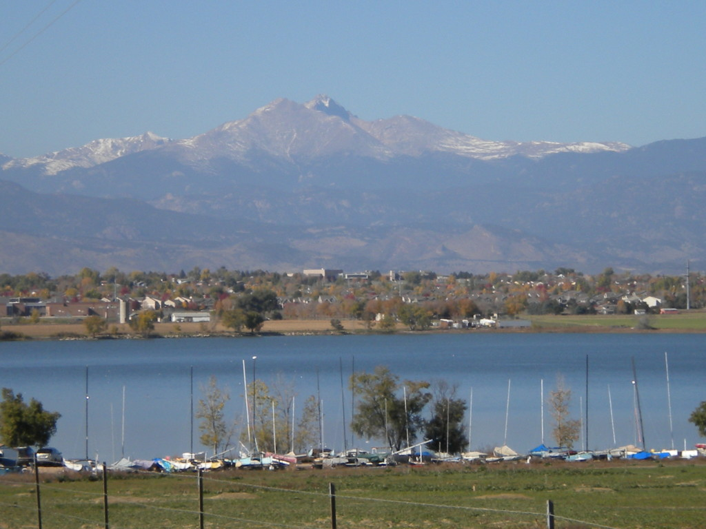 Longs Peak / Meeker overlooking Union Reservoir
