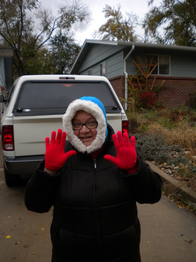 all bundled up --- channeling Kenny from South Park