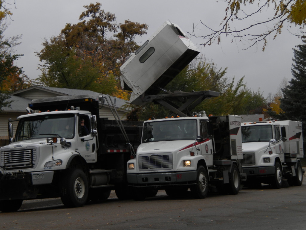 ... and a few blocks away, dumping the leaves