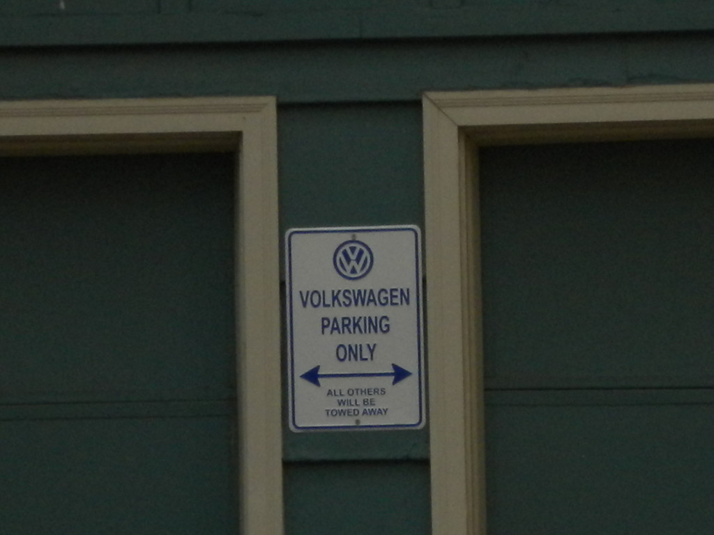 ... and a few blocks away.. VW parking only