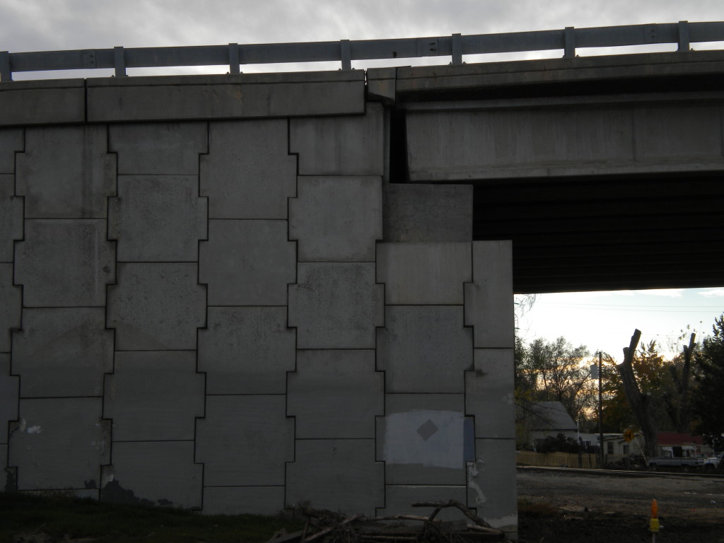west side of overpass