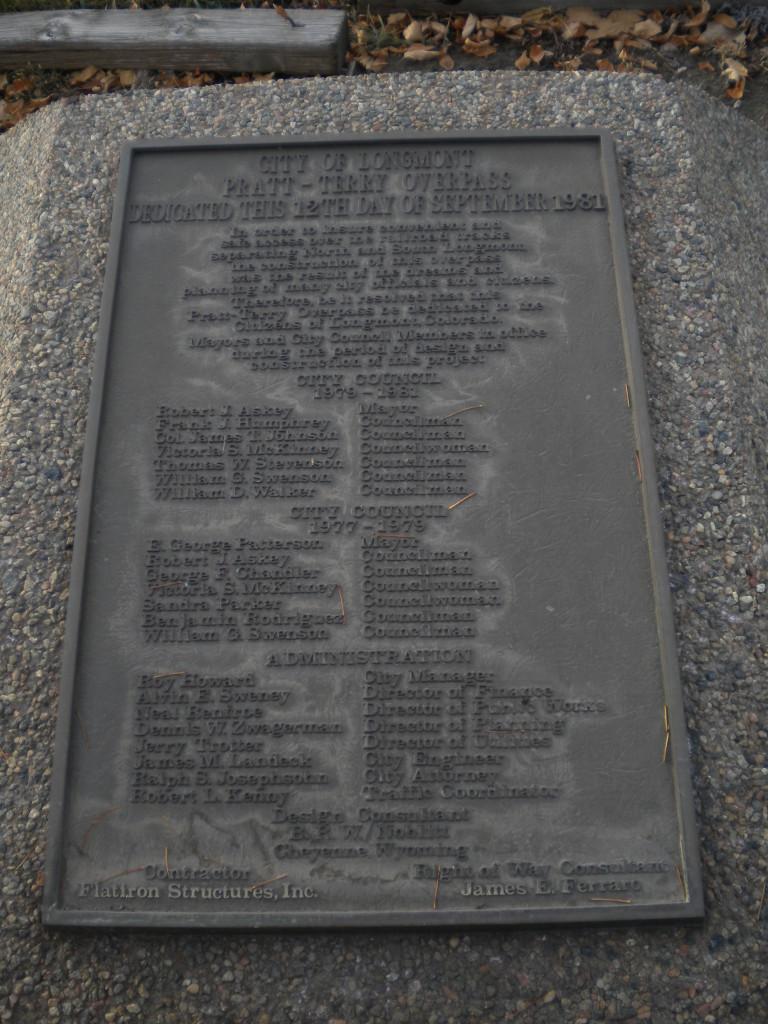 Overpass plaque