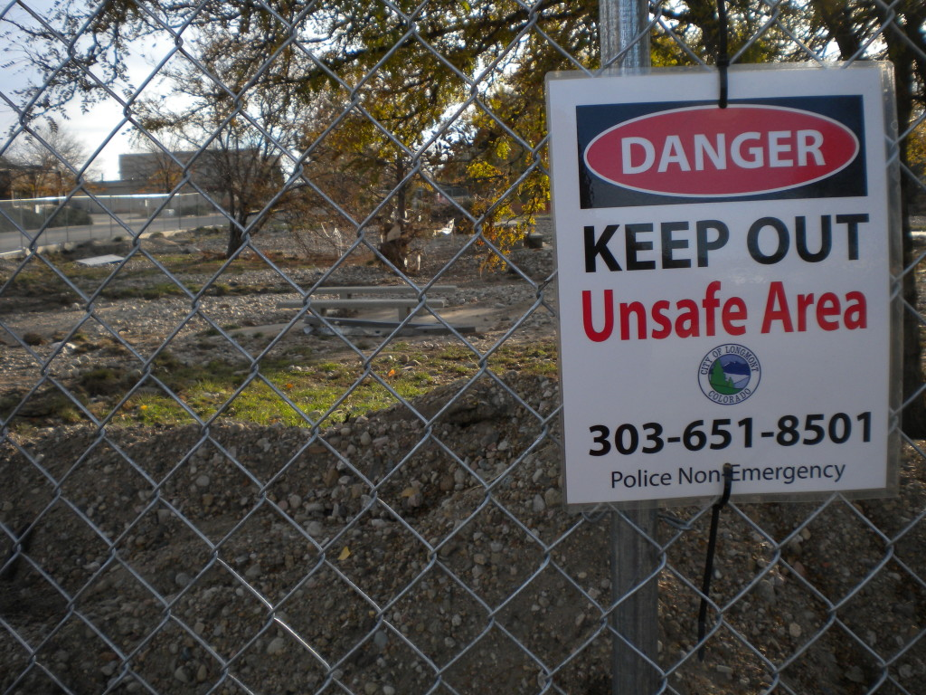 St. Vrain Greenway closed off in places