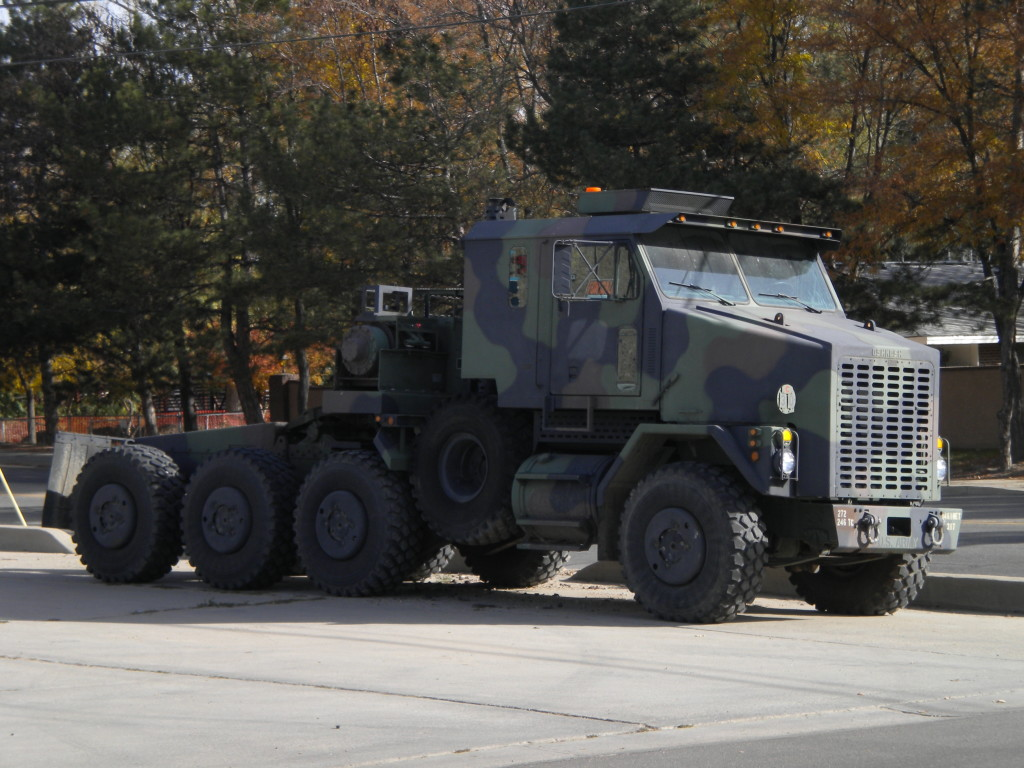 Army vehicle (helping with flood recovery?)