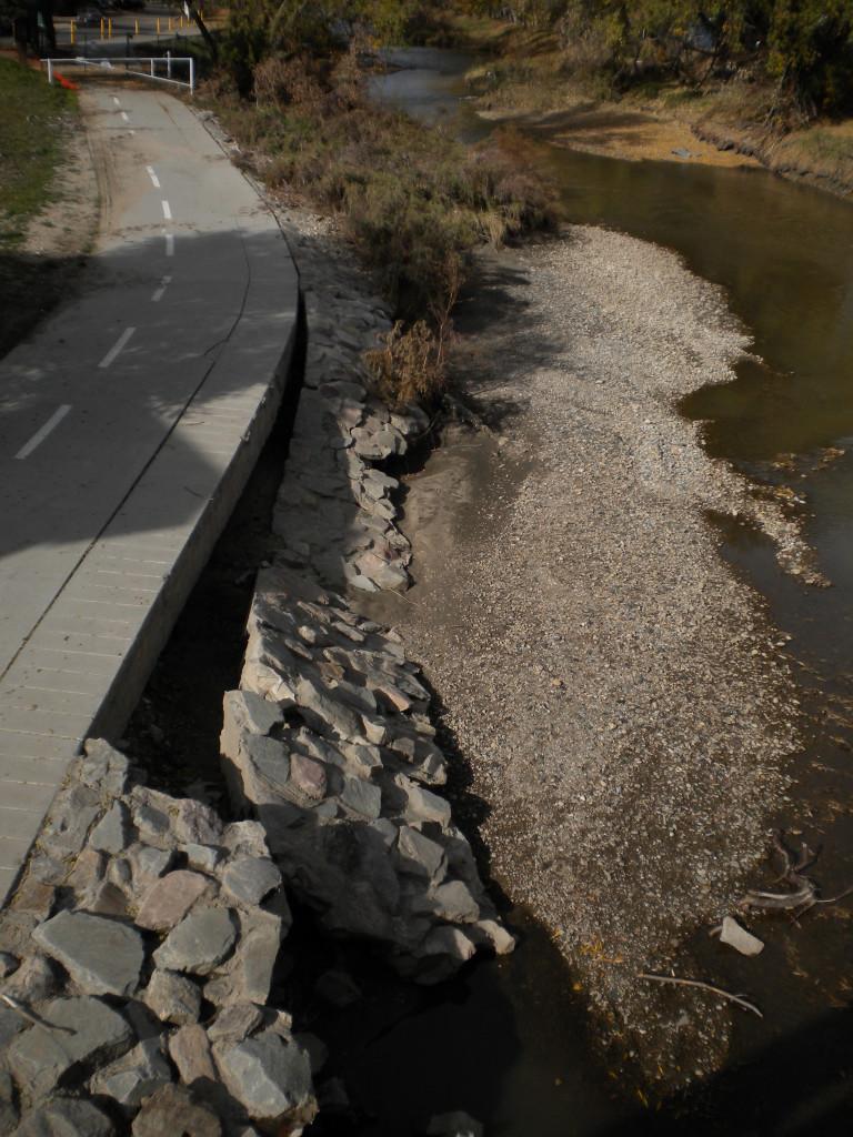 near Main ; collapse by bike path