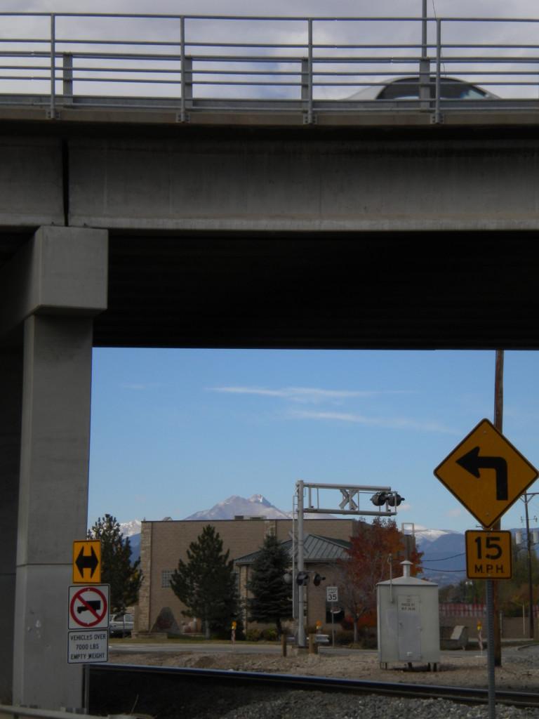 Long's Peak under the overpass