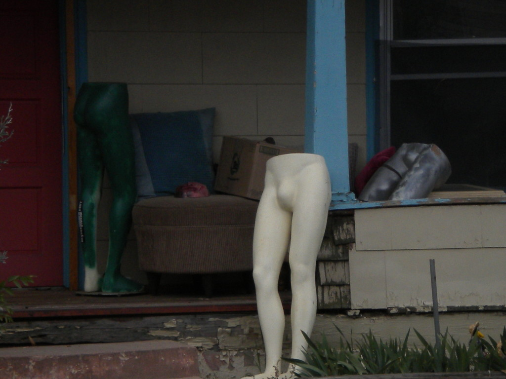 not sure if this is left-over halloween or R-rated front porch art