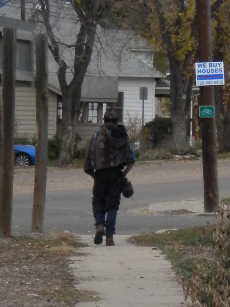 vagabond passing through town