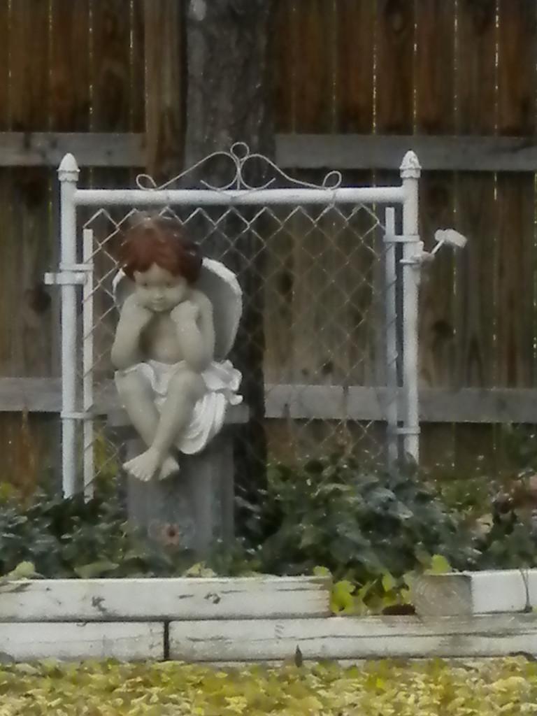 yard cherub