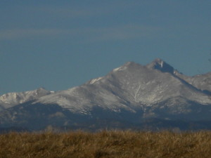 Long's Peak west of SHS