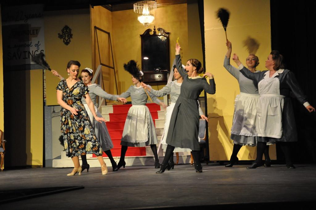 Maids dancing