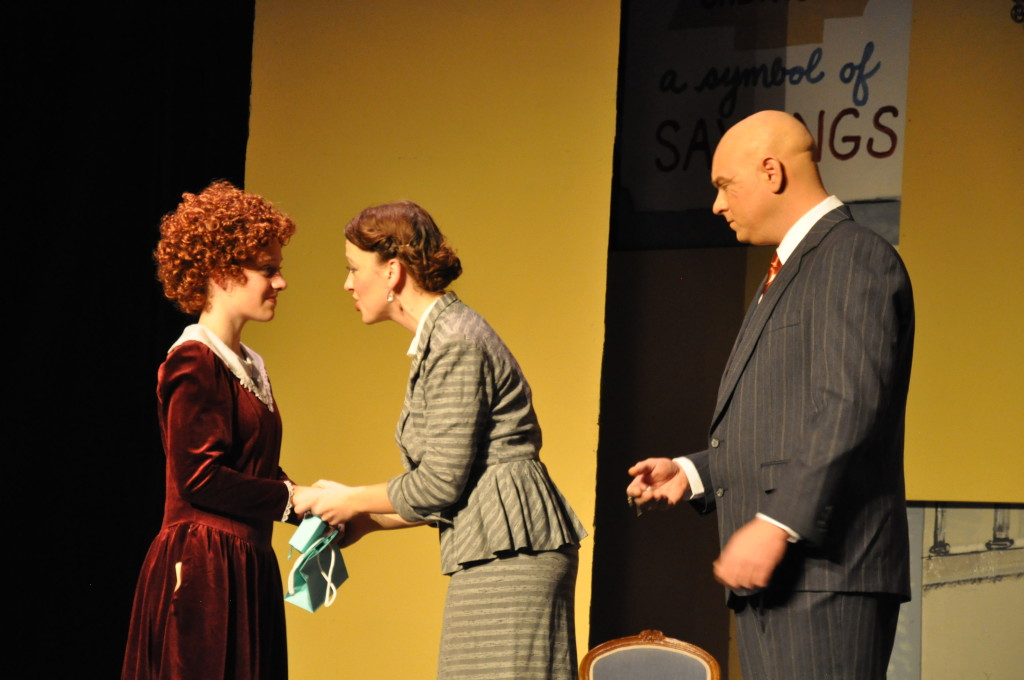 Annie, Grace, and Warbucks