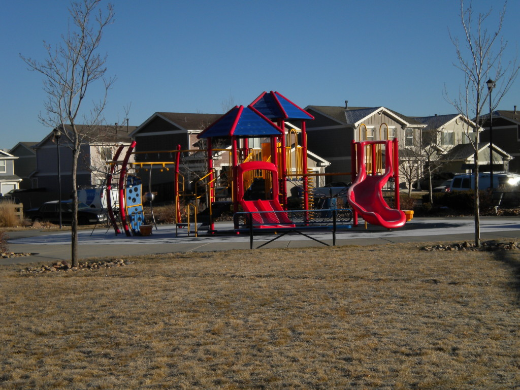 playground in center of area