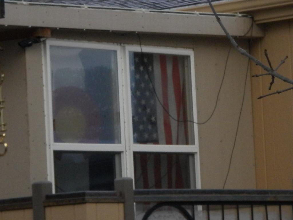 U.S. & Colorado flags