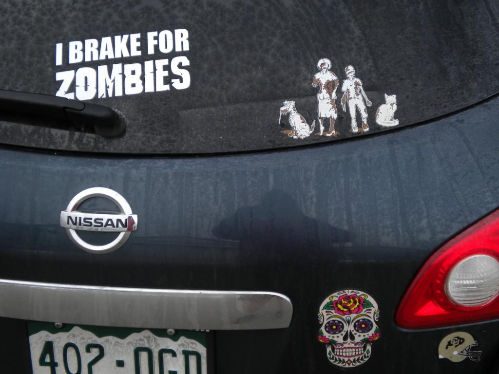 I brake for zombies
