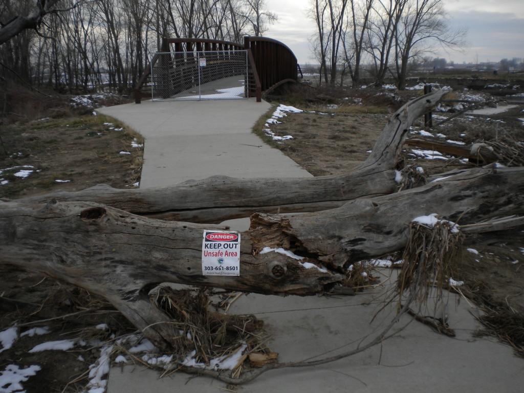 bike path still very much closed