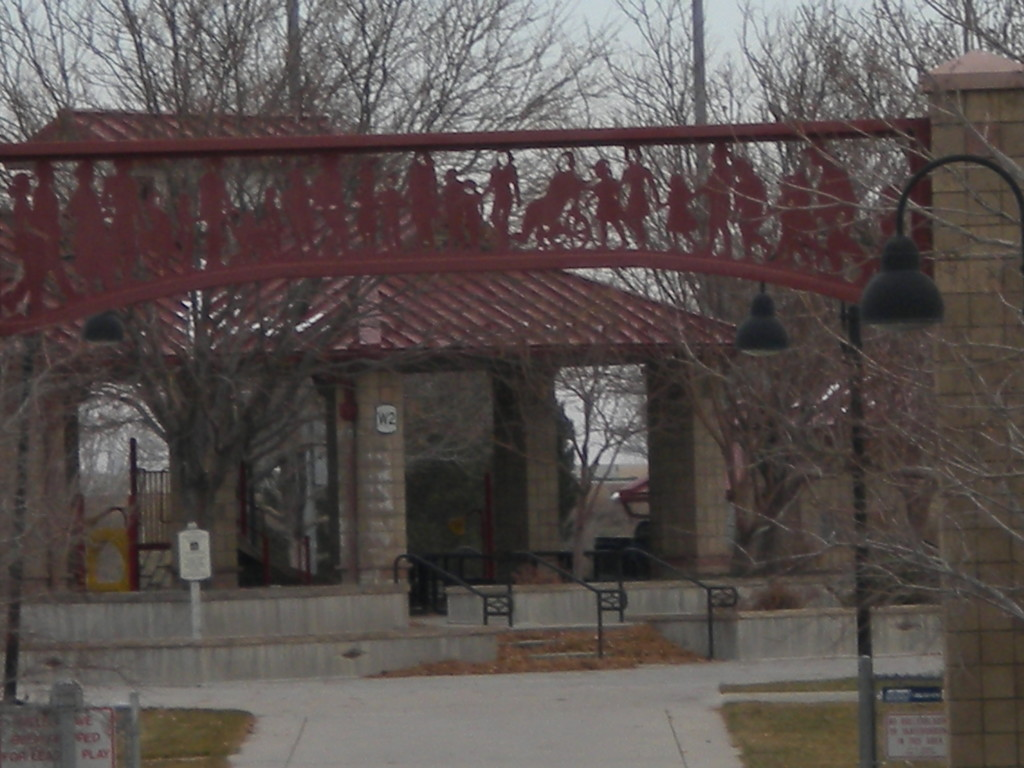 arch leading to baseball fields