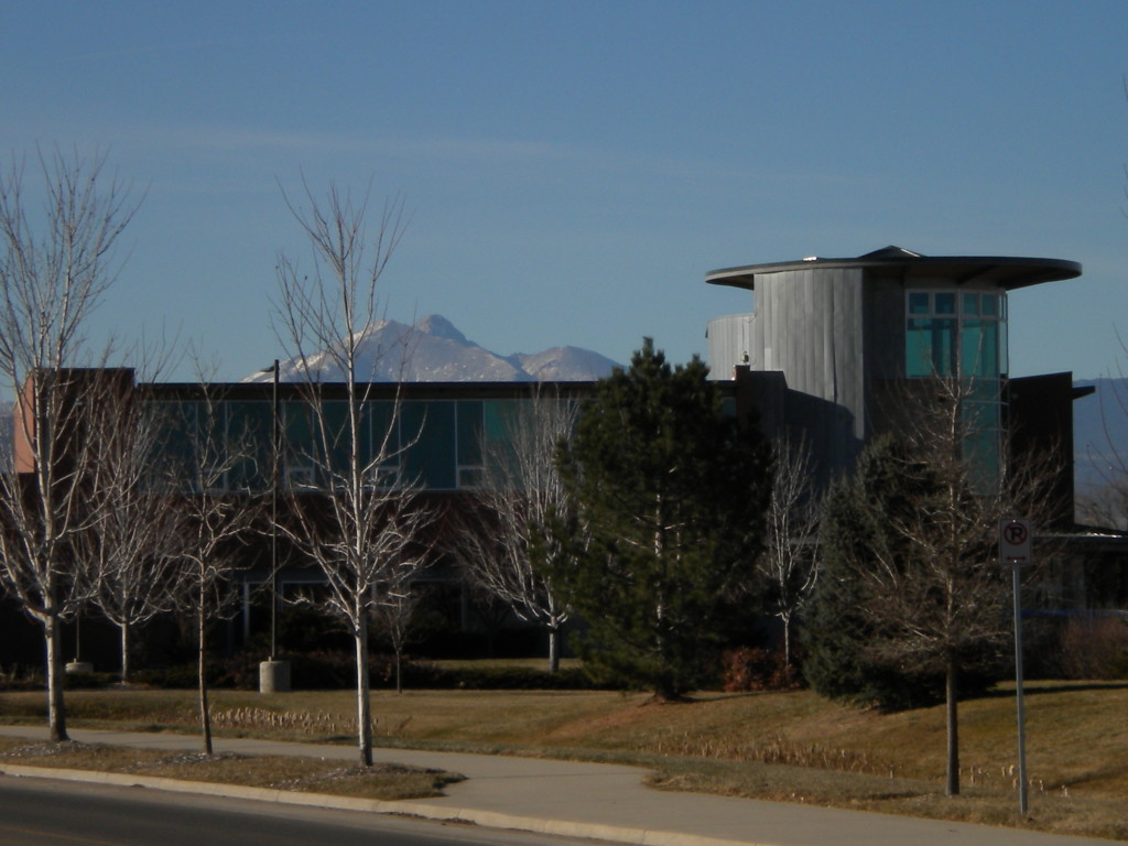 Museum with Long's Peak