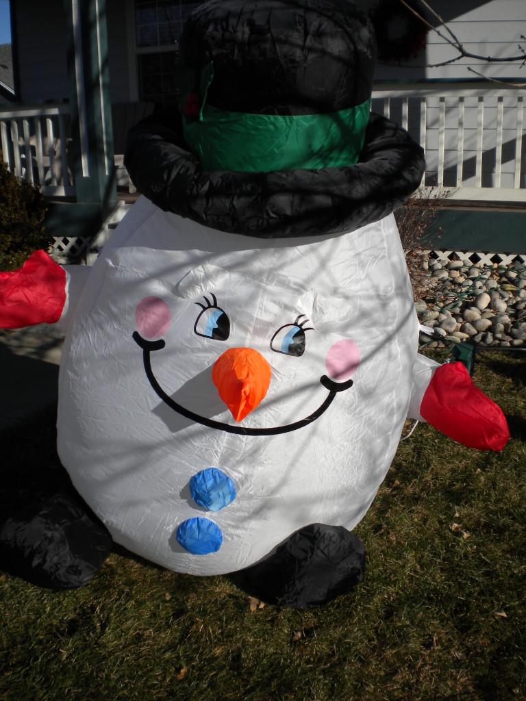Giant snowman head
