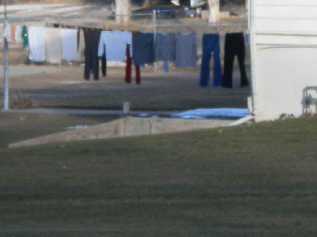 East Quail Road -- clothes out to dry in mid-December