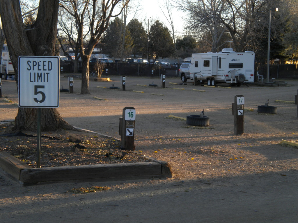 RV parking at fairground