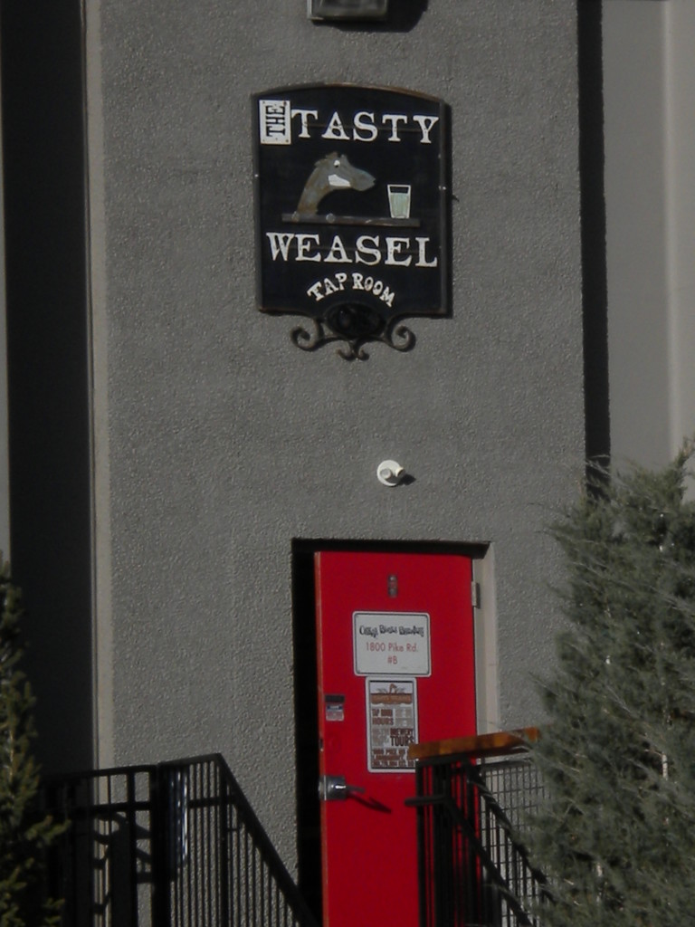 close-up of Tasty Weasel tasting room