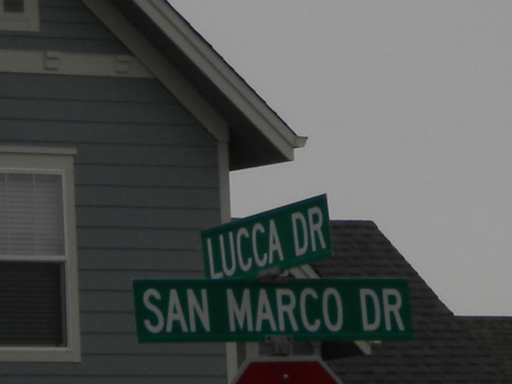 I haven't actually been canonized yet, but the street name is there already!!?!