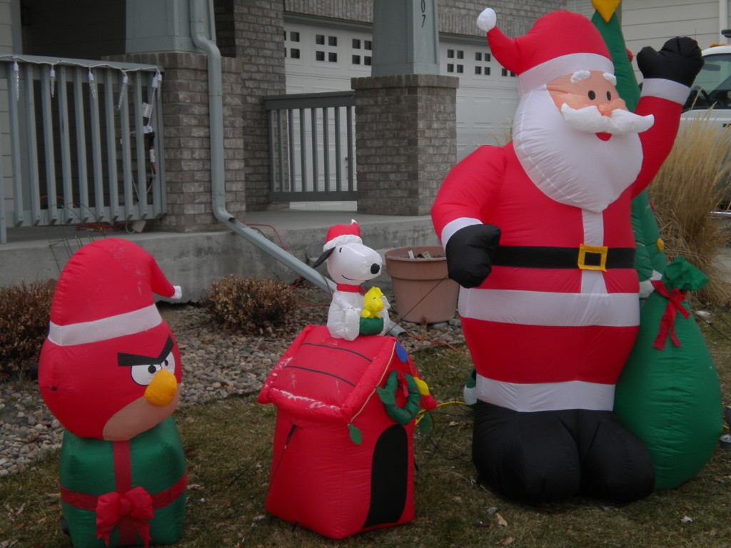Angry Bird, Snoopy, & Santa